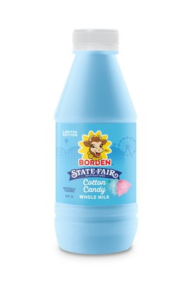 Limited-edition Cotton Candy milk from Borden Dairy, inspired by the State Fair of Texas
