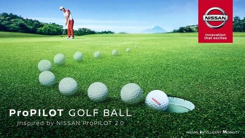 La balle de golf ProPilot (PRNewsfoto/Nissan Motor Co., Ltd.)