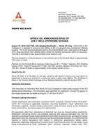 Africa Oil Announces Spud of Joe-1 Well Offshore Guyana (CNW Group/Africa Oil Corp.)