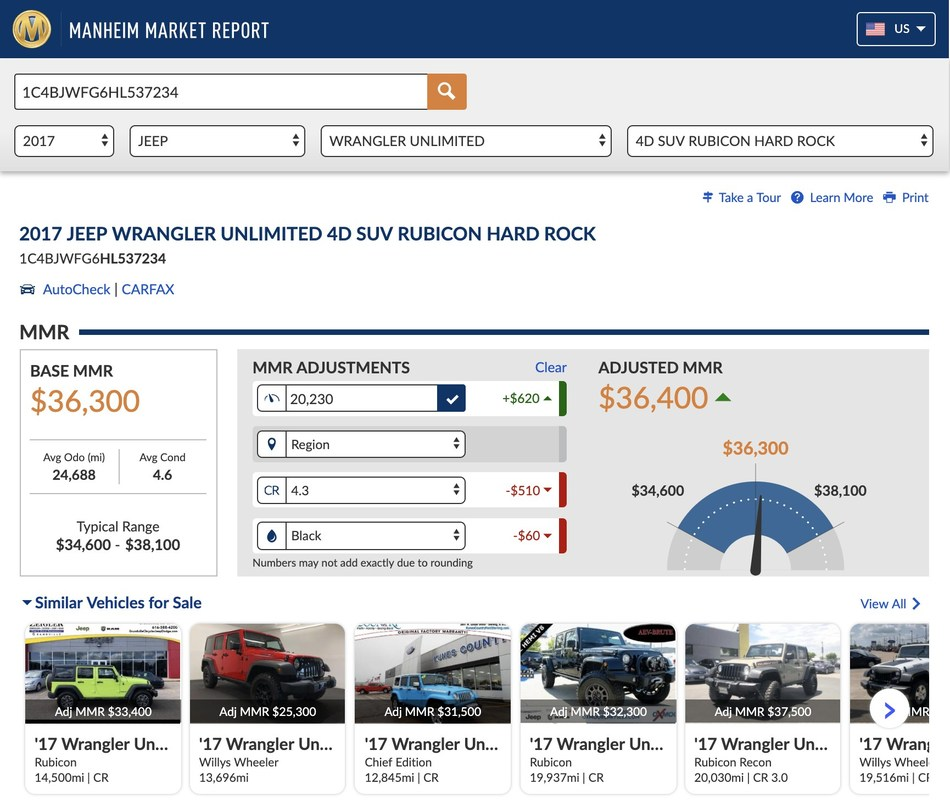 Manheim adds personalized vehicle inventory for all dealers using the Manheim Market Report valuation tool.