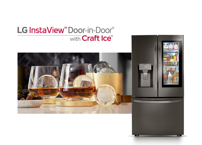 With four models rolling out at retailers nationwide, this industry-first innovation for refrigerators automatically creates and stores large, slow-melting round ice spheres for upscale, craft drinks at home.