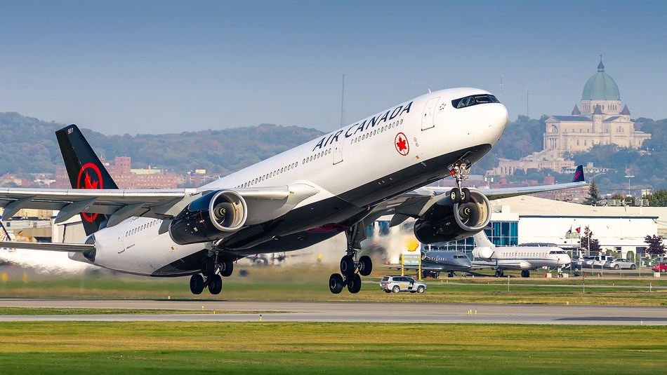 The five-times weekly flights will provide the only year-round service between the two cities and be operated with Air Canada's Airbus A330-300 fleet, featuring Signature Class, Premium Economy and Economy cabins. (CNW Group/Air Canada)