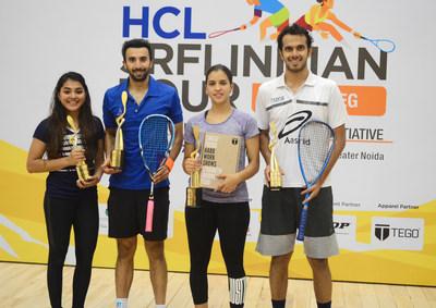 Winners of HCL-SRFI India Tour: From Left Sunayna Kuruvilla Vikram Malhotra Meena Hamed Aditya Jagtap