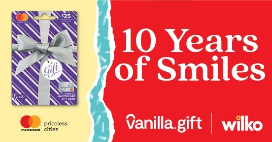 Vanilla® Gift Prepaid Mastercard® Teams Up with Wilko for a Promotion in Celebration of Vanilla Gift's 10-Year UK Anniversary