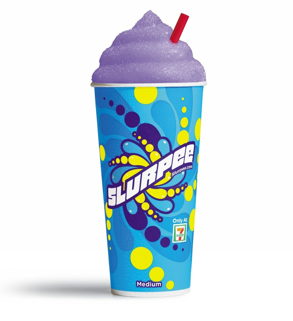 "The first NERDS-flavored Slurpee® drink has hit 7-Eleven® stores. The limited-time flavor is a mashup of two of its most iconic flavors – Strawberry and Grape. 7-Eleven collaborated with Ferrara Candy Company maker of the popular tiny, tangy crunchy candy to create the exclusive flavor described as ""delicious, tangy Grape and Strawberry that taste just like your favorite NERDS candy."""
