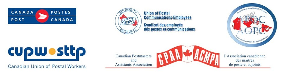 Joint statement from Canada Post, The Association of Postal Officials of Canada, The Canadian Postmasters and Assistants Association, The Canadian Union of Postal Officials, and the Union of Postal Communications Employees (CNW Group/Canada Post)