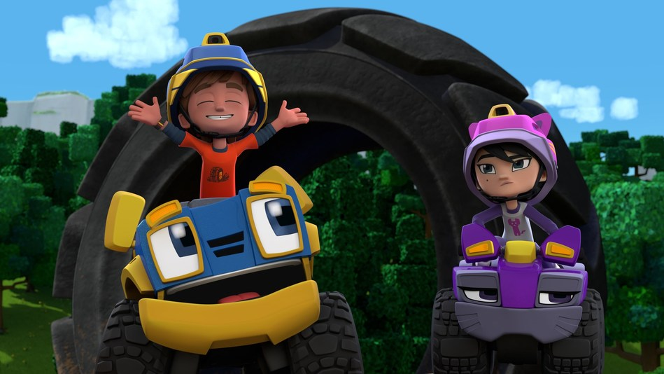 Rev & Roll airs weekdays at 8 a.m. ET on Family Jr. (CNW Group/Family Jr.)