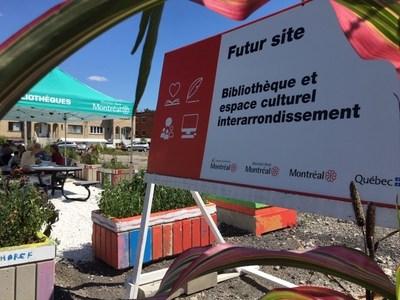Le site de la future bibliothèque et de l'espace culturel interrarrondissement. (Groupe CNW/Arrondissement de Montréal-Nord (Ville de Montréal))