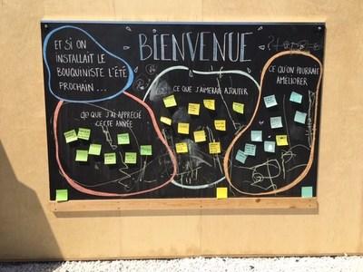 Les citoyens ont partagé leurs suggestions pour la future bibliothèque interrarrondissement. (Groupe CNW/Arrondissement de Montréal-Nord (Ville de Montréal))