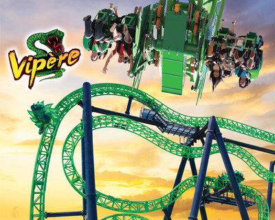 Vipère, Canada's First Ever Free-Fly Roller Coaster (CNW Group/La Ronde)