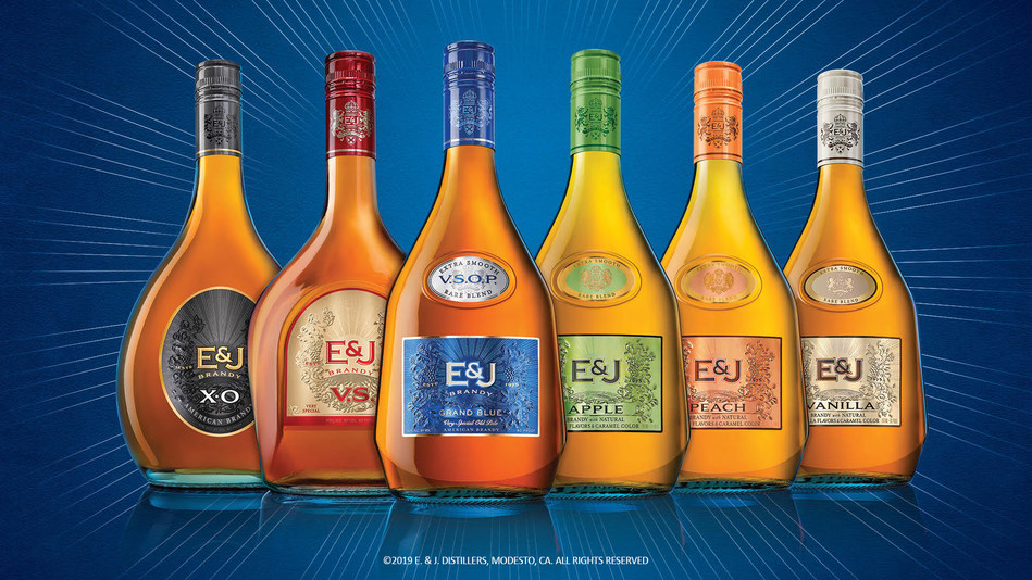 E&J Brandy's new packaging.