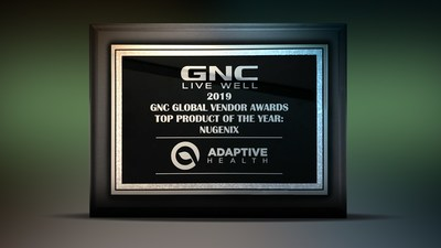 Nugenix Receives GNC 2019 Top Product of The Year Award for 2nd Consecutive Year