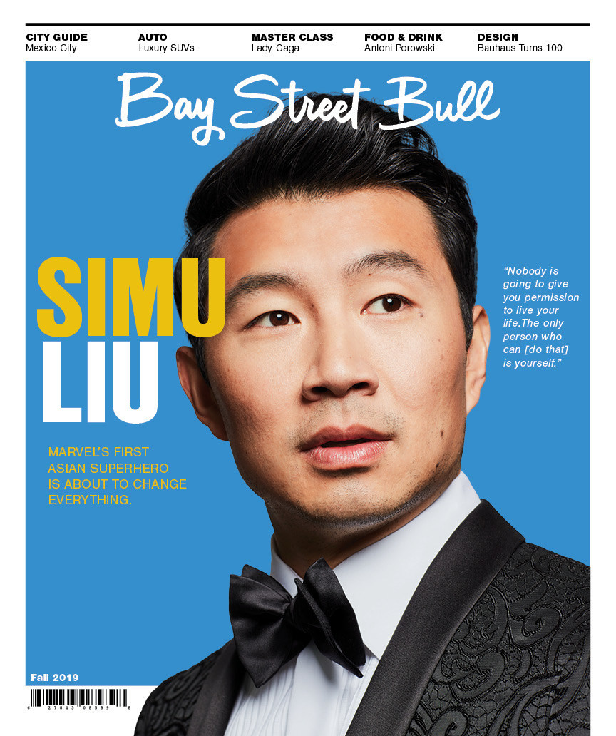 Bay Street Bull's Fall 2019 issue featuring Simu Liu, Marvel's first Asian superhero. (CNW Group/Bay Street Bull)
