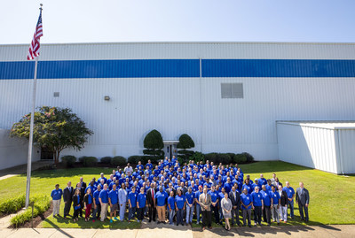 Lockheed Martin's team in Meridian, Mississippi, gathers to celebrate 50 years of operations. Lockheed Martin photo by Andrew McMurtrie.