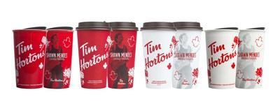Les gobelets d'édition limitée Shawn Mendes x Tim Hortons seront offerts partout au pays à compter du 30 août (Groupe CNW/Tim Hortons)