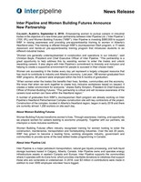 Women Building Futures Announcement (CNW Group/Inter Pipeline Ltd.)