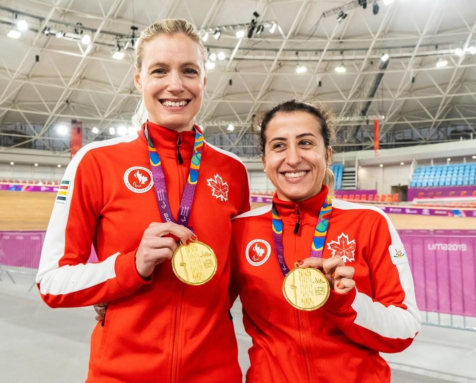 Carla Shibley (right) has been named Canada's Closing Ceremony flag bearer alongside pilot Meghan Lemiski (left). PHOTO: Canadian Paralympic Committee (CNW Group/Canadian Paralympic Committee (Sponsorships))