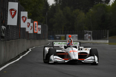 Honda's Colton Herta claimed his second pole of the season in NTT IndyCar Series qualifying at Portland International Raceway.