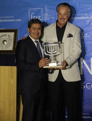 "President Juan Orlando Hernandez Receives the ""Friends of Zion Award"" (photo credit: Yossi Zamir)"