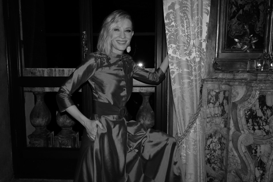 Armani beauty's Global Beauty Ambassador Cate at the exclusive dinner Armani beauty hosted in Venice to honor cinematography during the 76th Venice International Film Festival. Credits: Greg Williams for Armani beauty