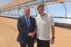 Israeli Minister of Energy Dr. Yuval Steinitz Joins Shikun & Binui Group's Naty Saidoff  to Open Ashalim Solar Thermal Power Station