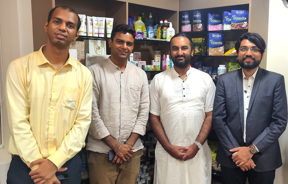 Mr Vikas Chauhan, co founder 1mg.com met with Mr Arvind Varchaswi, MD Sri Sri Tattva along with their respective teams.