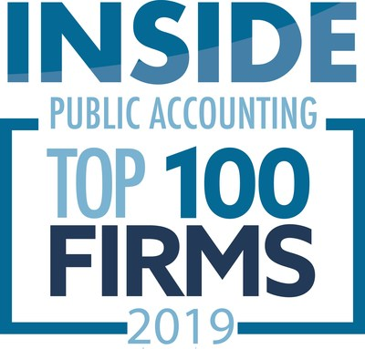 Siegfried Recognized as One of the Largest and Fastest-Growing Accounting Firms in the Country; INSIDE Public Accounting releases 2019 rankings and Siegfried is listed at 27 in the Top 100