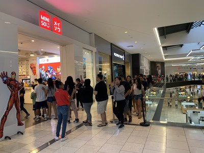 The second Marvel x MINISO store launched at Westfield Santa Anita in Arcadia, California. A long line formed outside the store in the early morning.
