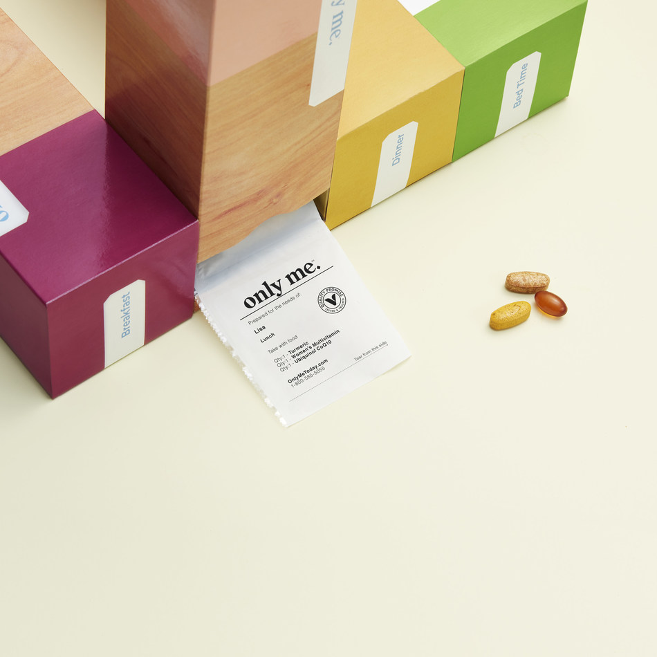 The Vitamin Shoppe has introduced its Only Me personalized daily vitamins and supplements packs.