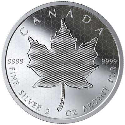 Moneda de plata fina para coleccionistas de hoja de arce pulsante de Royal Canadian Mint (CNW Group/Royal Canadian Mint)