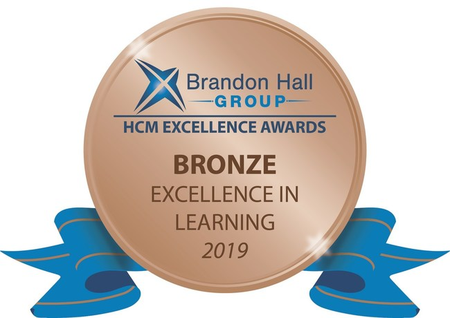 Brandon Hall Group Excellence in Learning Bronze Award
