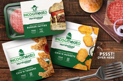Incogmeato, the new next-gen product line by MorningStar Farms, includes the company's first ready-to-cook plant-based burger to be sole in the refrigerated meat case and frozen, fully prepared plant-based Chik'n tenders and nuggets.