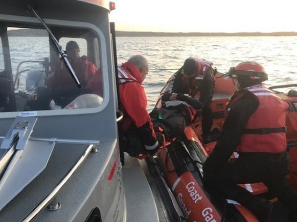 IRB North crew during a training exercise in August, 2019, in Rankin Inlet, NU. (CNW Group/Fisheries and Oceans Central & Arctic Region)