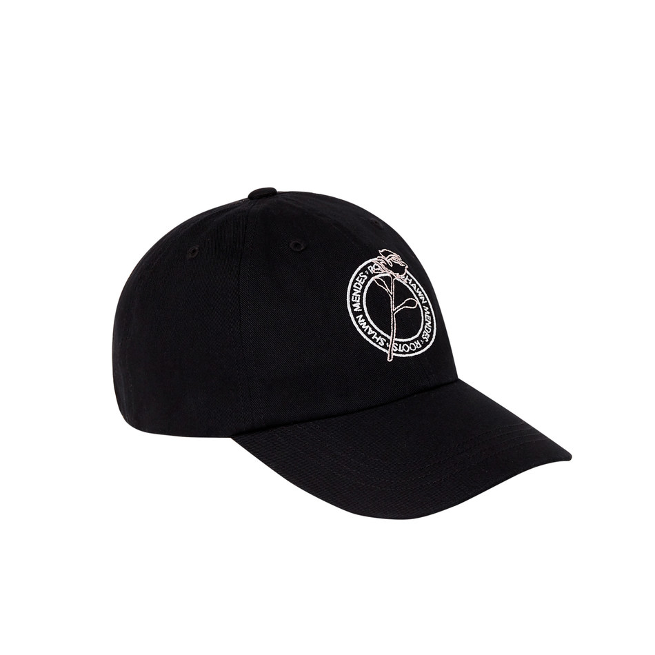 Roots x Shawn Mendes Shawn Mendes Foundation Charity baseball cap, exclusive to the downtown Toronto rose garden pop up (CNW Group/Roots Corporation)