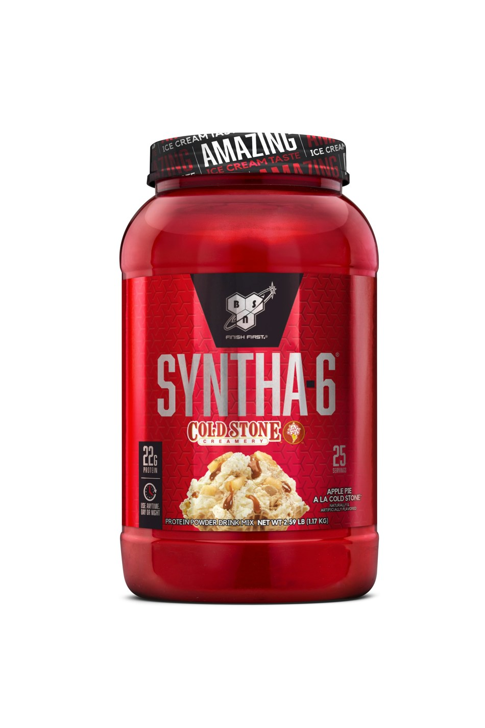 Get your holiday-inspired fitness fix with BSN SYNTHA-6 Apple Pie A La Cold Stone™, the newest addition to the popular flavor line inspired by Cold Stone Creamery® Signature Creations™.
