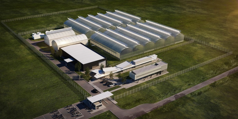 Khiron Life Sciences cultivation and processing facility, Juan Lacaze, Uruguay (Completion Q3, 2020) (CNW Group/Khiron Life Sciences Corp.)