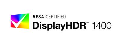 VESA Certified DisplayHDR 1400 brand logo.