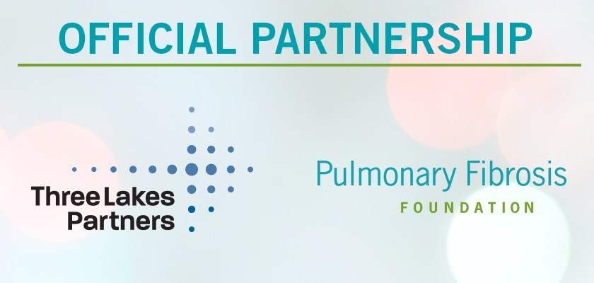 The Pulmonary Fibrosis Foundation and Three Lakes Partners announced a major partnership in the fight against pulmonary fibrosis. Three Lakes Partners will provide funding to the PFF to achieve its goals of driving awareness and accelerating the development of new therapies and cures for the devastating lung disease.