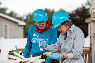 Throughout their involvement with the Carter Work Project, President and Mrs. Carter have worked alongside 103,000 volunteers in 14 countries to build, renovate and repair 4,331 homes.