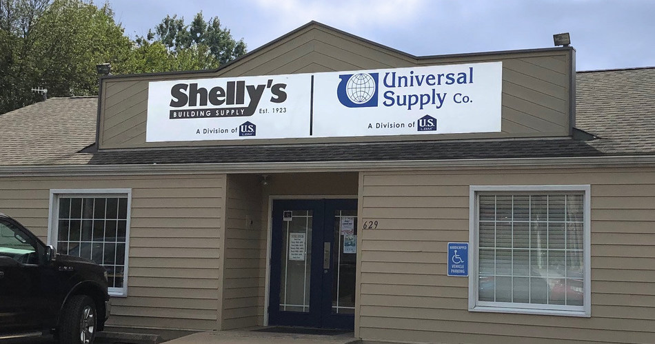 Shelly's Building Supply and Universal Supply, divisions of national building products distributor US LBM, have partnered to co-brand the company's Kimberton, Pa. location and expand its selection to include roofing and siding products.