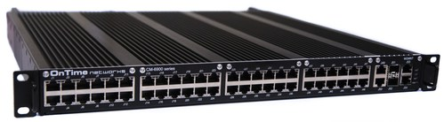 OnTime Networks Rugged Military CR-6900 Series GbE/10GbE Switch, Router and GPS Time Synchonization Server.