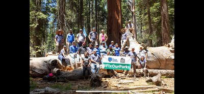Francisco Chavez worked alongside other veterans to clear hiking paths at Sequoia National Forest with Wounded Warrior Project and The Mission Continues. After the work was done, a group of warriors walked through magnificent Sequoia forest and took pictures of a mama bear and her cub. They then set up camp and enjoyed a peaceful night.