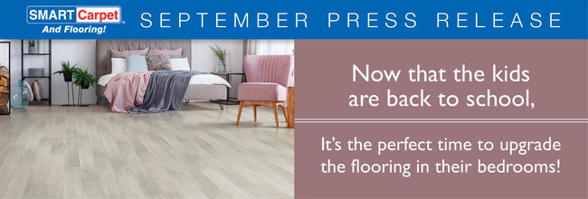 Now that the kids are back in school, it's the perfect time to upgrade the flooring in their bedrooms!