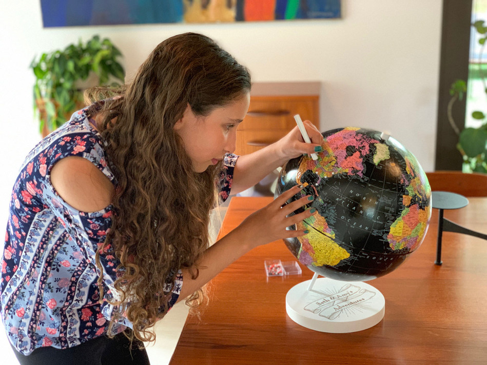 Wendy Gold Studios™ Debuts Push Pin Globes for Travel Lovers. To learn more visit www.wendygold.com