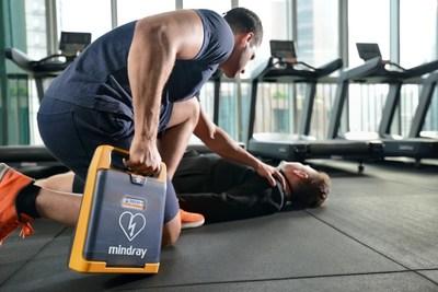 El DEA Mindray BeneHeart Serie C se puede aplicar en el gimnasio o en otros ambientes deportivos.