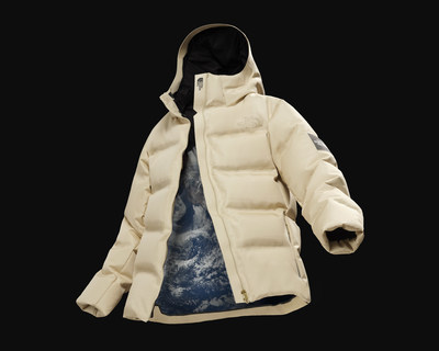 "THE NORTH FACE Sp. ""MOON PARKA"", the world's first outerwear jacket to utilize microbially-produced protein materials."