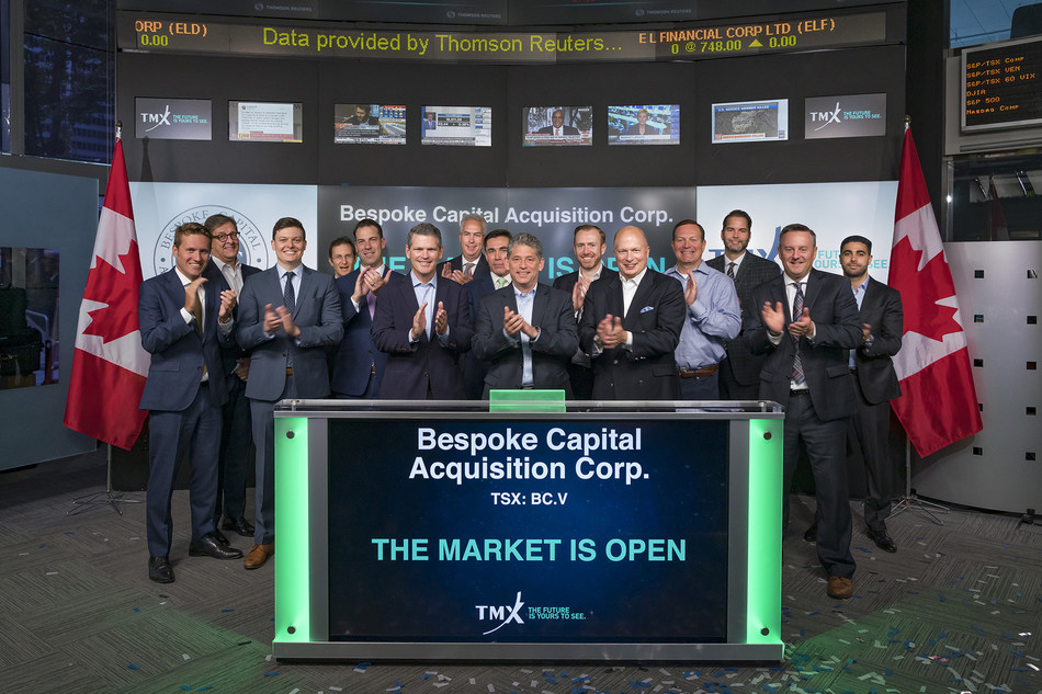 Bespoke Capital Acquisition Corp. Opens the Market (CNW Group/TMX Group Limited)