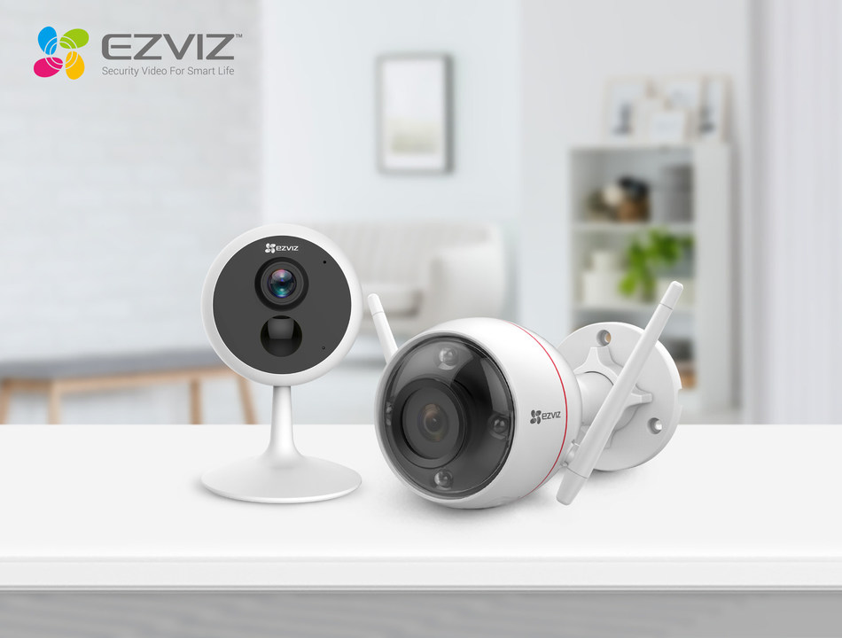 EZVIZ today introduced innovative security cameras C1C PIR and C3W Color Night Vision (from left to right), taking nighttime security to the next level.
