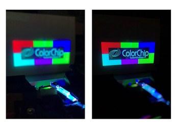 ColorChip Miniature RGB Projector