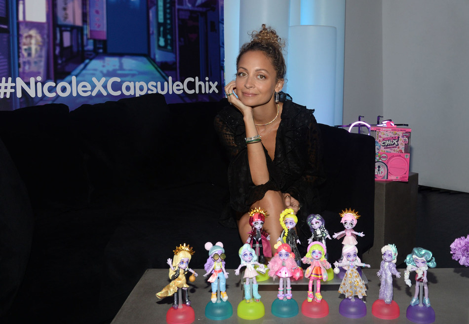 Style icon, actress, entrepreneur and mom Nicole Richie celebrates the launch of Capsule Chix fashion dolls during an exclusive presentation ahead of New York Fashion Week. Richie created 13 custom Capsule Chix looks to express her own unique sense of style.